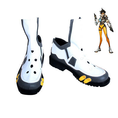 OW Overwatch Tracer PU Fighting Cosplay Kostüm Costume Schuhe Shoes boots größe
