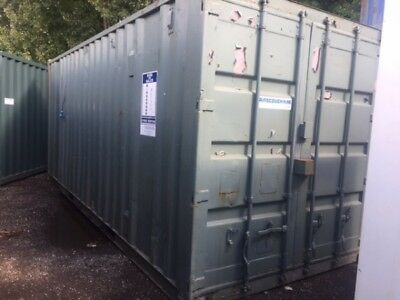 20 ft Long 8 ft Wide Light Green/grey Office / Store Unit Second Hand - Store