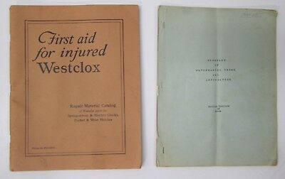 Vtg First Aid for Injured Westclox Watch Repair Catalog Manual & Horology Guide