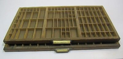 2 Antique/VTG Hamilton Wood Printer's Type Trays or Drawers & Collection Display