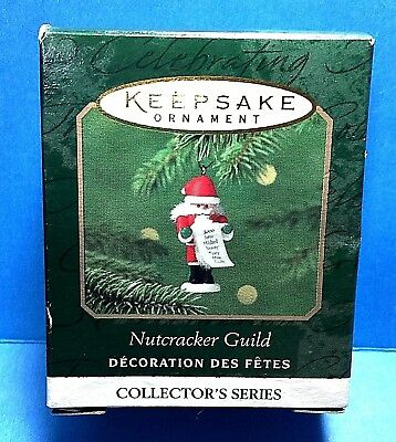 "Hallmark ""Nutcracker Guild"" Miniature Ornament 2000"