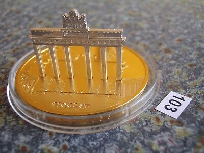Cook Islands 2009 1 Dollar $ World Monuments Brandenburg Gate Berlin Sculpture