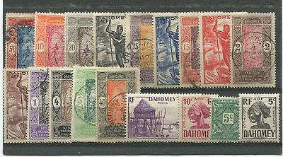 "DAHOMEY ( French Colony ) -  18 Stamps  ""  ALL  DIFFERENT  "" ."