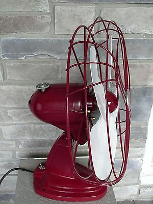 Vintage Handsome Red Custom Paint  Arctic Aire Oscillating Fan 16""