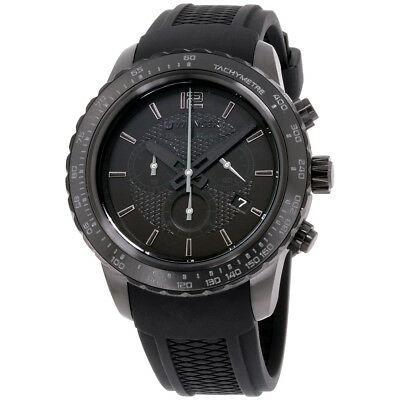 Wenger Roadster Black Night Black Dial Silicone Strap Men's Watch 010853111