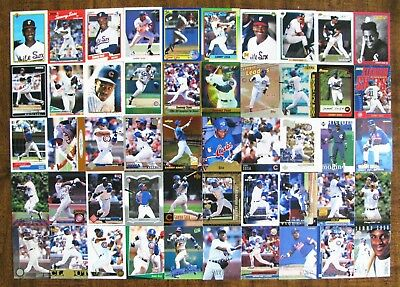 Sammy Sosa Chicago Cubs & White Sox Lot Of 50 Different Cards Inc 6 Rookies
