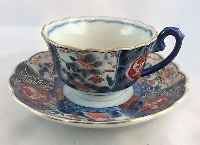 Teetasse China/Japan?blau handgemalt,,eisenrot,gemarkt