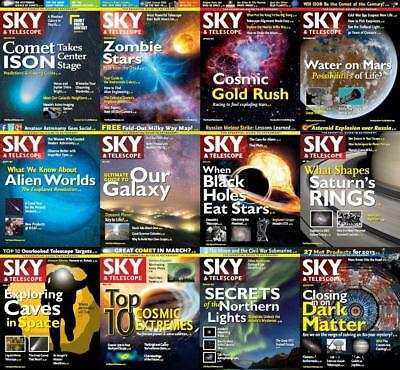 Sky and Telescope Magazine's - (1941-2018) *4 DVDs*  900+ Issues Astronomy Pdf's