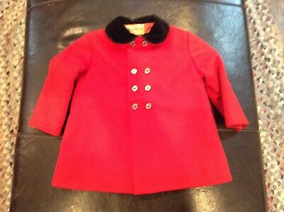 Vintage Marion Michael Child's Red Wool Blazer/Coat.sz 3 - snazzy