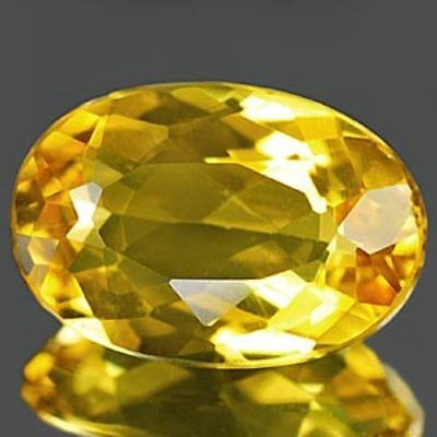 Aaa Natural Beryl Heliodor Ct 1.48 If Yellow Color Oval Cut Origin Brazil