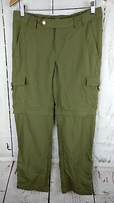 Columbia Titanium Convertible Pants Womens Size 8 Green Outdoor Zip Nylon Hiking