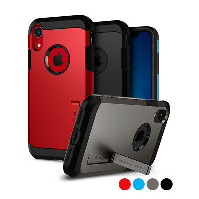 iPhone XR   Spigen® [Tough Armor] Dual Layered Protective Shockproof Case Cover