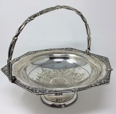 Superb Victorian Silver Plated Fruit Bowl Engraved 1873