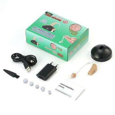 Rechargeable Hearing Aids Sound Voice Amplifier Low Noise Behind The Ear YX