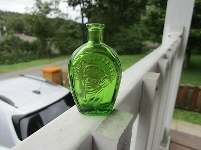 "Vintage Green Thomas Jefferson  Miniature 3"" Bottle Wheaton Nj W 71"
