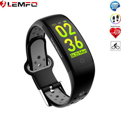 Lemfo Q6s Gris Pulsera Inteligente Deportiva Impermeable Para Xiaomi IOS Huawei