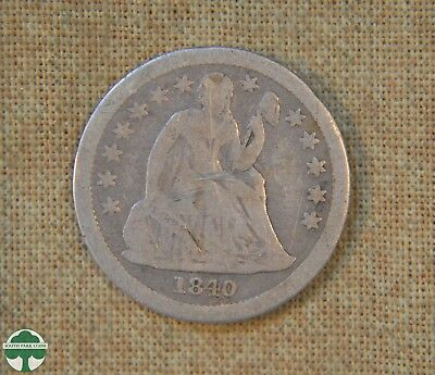 1840 Seated Liberty Dime - Very Good Details - With Drapery