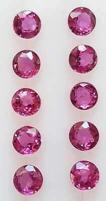 🔥🔥 3 MM Round Cut Natural Ruby Loose Gemstone AAA