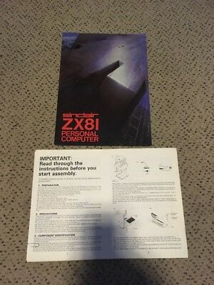 1981 Sinclair ZX81 PC Original Brochure And Copy Of Assembly Instructions