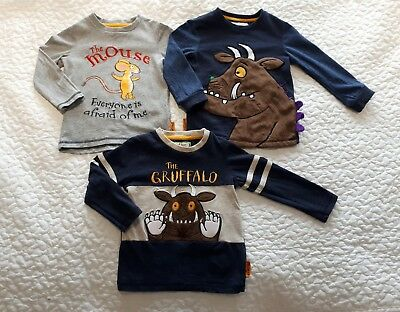 18-24 M Boy Gruffalo long sleeve Bundle + Space top (4 tops)