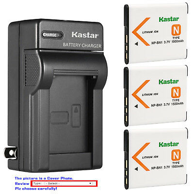 Kastar Battery Wall Charger for Sony NP-BN1 BC-CSN & Sony Cyber-shot DSC-W330