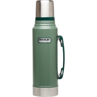 Stanley Classic Vacuum Insulated Thermos Bottle 16 oz Pint New with Tags green