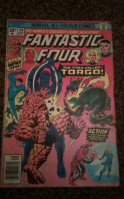 FANTASTIC FOUR #174 SEPT 1976 THE TITAN CALLED TORGO .99p start Pence Variant