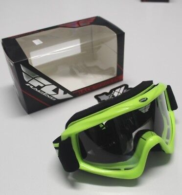 FLY Racing Goggles Goggle 37-2221 Hi-Vis Yellow w/ Clear Lens Adult Focus L@@K