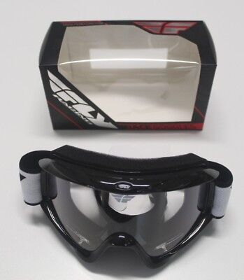 FLY Racing Goggles Goggle 37-3000 Black w/ Clear Lens Adult Focus L@@K