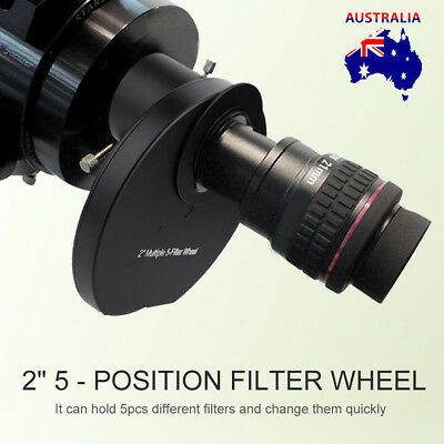 Universal 1.25'' 5-Position Manual Telescope Filter Wheel for Astrophotography