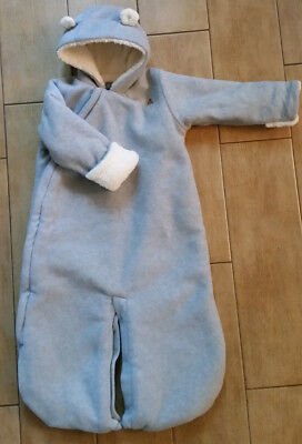 Baby Gap Warm Padded Footmuff Fleece Stroller Winter 6 -12 Months Overalls Lined