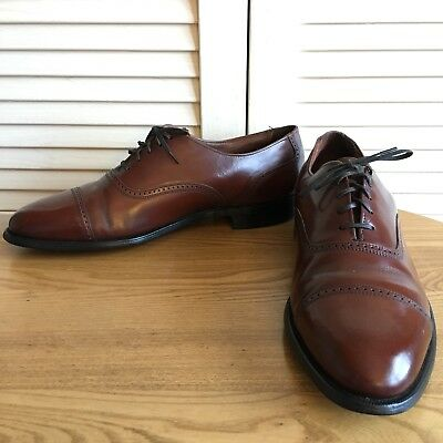 Hanover Masterflex Men's Vtg Cap Toe Brown Leather Oxford Lace Ups Size 12 D/B