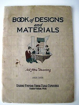 "Vintage 1925-15.2cmArt Faser Webung "" Broschüre - Book Of Designs & Materialien"