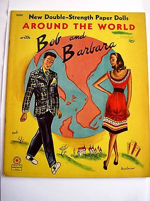 "1946 Papier "" Around The World With Bob & Barbara W / Kleidung Uncut"