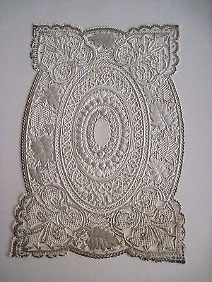 Vintage Antique Victorian Lace Sheet For Making Valentine or Other Crafts
