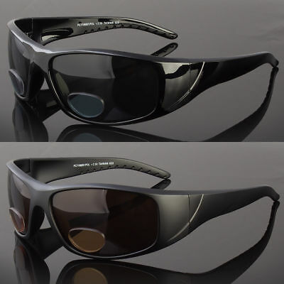 afe82ac882 Polarized BIFOCAL Wrap Around Sunglasses Mens Womens Fishing Glasses Reading