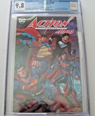 CGC 9.8 Action Comics 1000 Dynamic Forces Jurgens Variant DF Superman