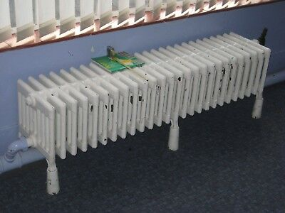 Large Antique square section cast iron architectural radiator