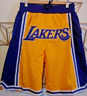 Big Logo LAKERS Los Angeles LeBron James Summer League Jersey Basketball Shorts