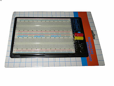 1pc 1660 pt solderless breadboard w 3 binding posts fast ship from USA