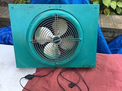 Vtg Eames Art Deco Lasko Electric Industrial Fan Round Working Space Age Window
