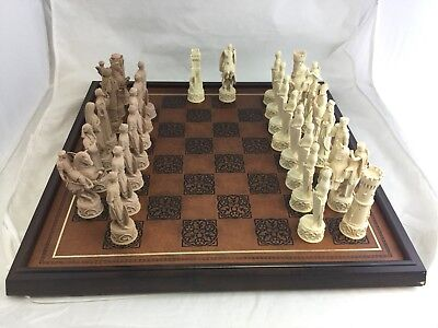 Vintage Franklin Mint The Great Crusaders Chess Set