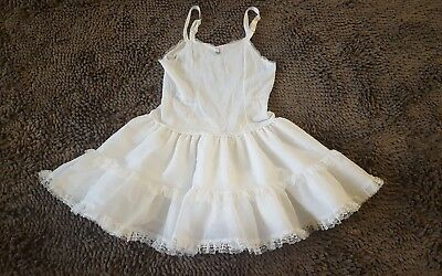 Vintage*Girls White Layered Slip*Size 6*EVC