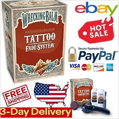Tattoos Remover Cream Wrecking Balm by Microdermabrasion in 3 minutes every day