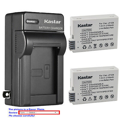 Kastar Battery Wall USB Charger for Canon LP-E8 LC-E8 & Canon EOS Kiss X5 Camera