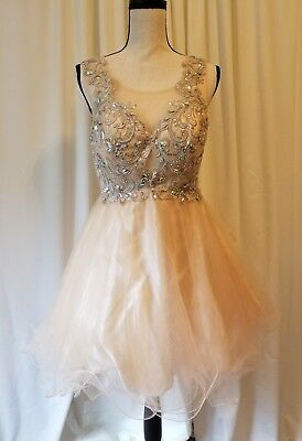 Lace Dancing Queen Retro Ladies Size L Homecoming Prom Dress Evening Gold Sequi