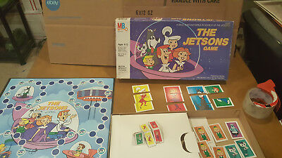 """Vintage 1985 Milton Bradley """"The Jetsons Game""""  Board Game *INCOMPLETE* Parts"""