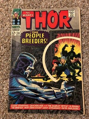 The Mighty Thor #134 Marvel 1st High Evolutionary * Production Error No Staples