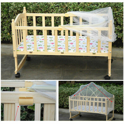 Folding Baby Infant Cradle Crib Arched Anti Insect Mesh Curtain Netting Cot Tent