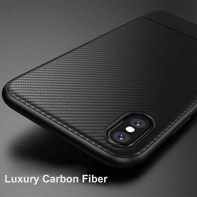 Shockproof Slim Carbon Fiber Soft TPU Case Back Cover For iPhone Xs Max XR 2018